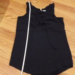 Free People Tops - Free People black lace up tank top